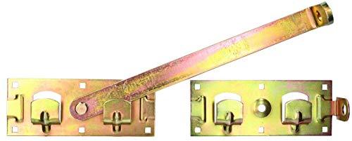 KOTARBAU® Doppeltorüberwurf Links Rechts Baubeschlag Gartendoppeltor-Überwurf Bolzenriegel Torriegel Torverschluss Schlagladenüberwurf Torverrieglung