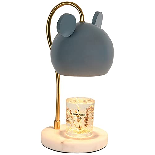 HSLY Lámpara de Aroma Romántico, Cera de Fusión Eléctrica G9 Lámpara de Fragancia Luce de Mesa Metal Decorativa para Iluminación Interior Dormitorio Hogar (Color : White)