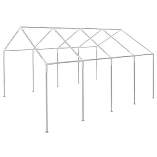 Festnight Frame voor Volledig waterdicht gepoedercoat stalen frame voor Outdoor Wedding Garden Party 8x4 m partytent staal