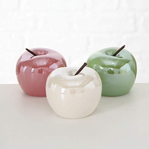 Seaside No.64 Figura decorativa de manzanas Pearly, en tres colores (rosa, verde y blanco)