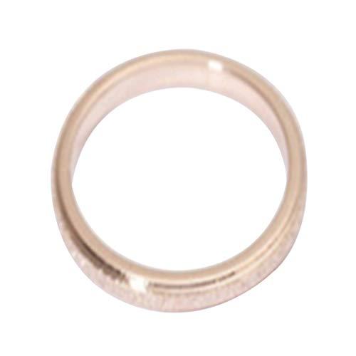 #N/A Ristiege - Anillo de arena con perla creativa, anillo de acero de titanio esmerilado para parejas, accesorios de joyería, 16,5 mm