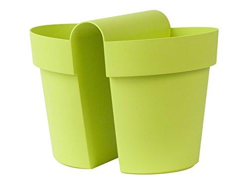 Euro 3 Plast Vaso Be-Up con Riserva Cm25-3032 Verde Acqua, Plastica