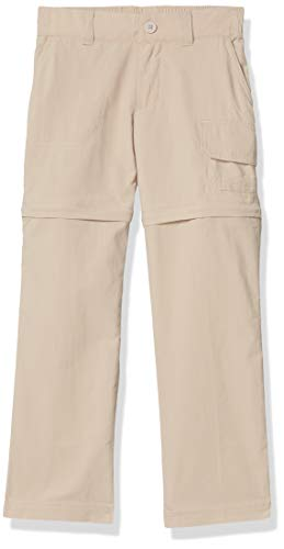 Columbia Girl's Silver Ridge IV Convertible Pants, Moisture Wicking, Sun Protection, British Tan, Medium