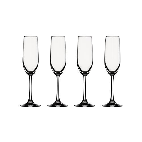 Spiegelau Vino Grande Sektkelch, 4er Set, Proseccokelch, Champagnerkelch, Sektglas, Proseccoglas, Champagnerglas, Kristallglas, 178 ml, 4510275