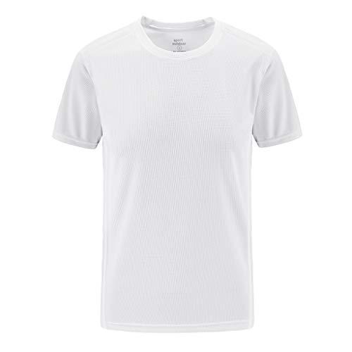 LAsimi Herren Hemd Herren Sommer LäSsiges Outdoor-T-Shirt In ÜBergrößEn Mit Schnell Trocknenden Atmungsaktiven Tops(XXXXXX-Large,Weiß)