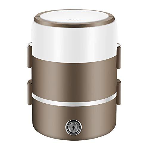 QZXCD lunchbox voor studenten, elektrisch, kan worden aangesloten op elektrische verwarming, isolatie van rijst, warm-kunststof, koken, mini met rijstkoker, kantoor voor 1 persoon, 2 personen