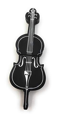Onlineworld2013 Basso violoncello violino violino in nero Divertente chiavetta USB 32 GB USB 2.0