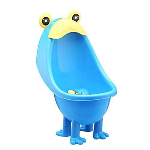 VJRQM Baby Potty Training Boys Standing Potty Toilet Trainer Frog Wall-Mounted Urinals Toilet Children Stand Vertical Urinal Pee Potty Blue