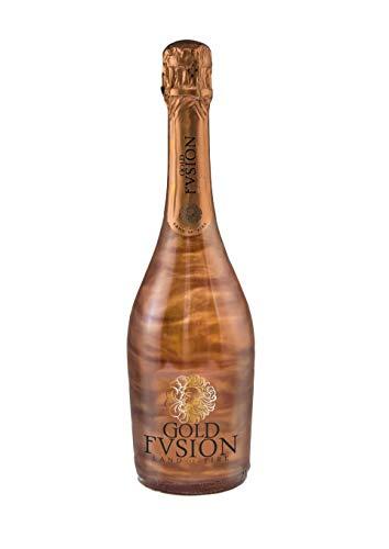 Vino Espumoso- GOLD FUSION Vulcano- ideal Día del Padre, cumpleaños, carnaval, Halloween, fiesta, celebración, boda, brindis