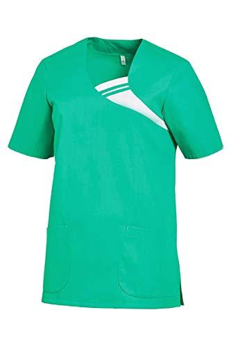 Leiber Damen Kasack Schlupfkjacke halbarm (XL, Smaragd)