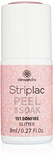alessandro Striplac Peel or Soak Bonfire - LED-Nagellack in Rosa - Für perfekte Nägel in 15 Minuten, 8 ml
