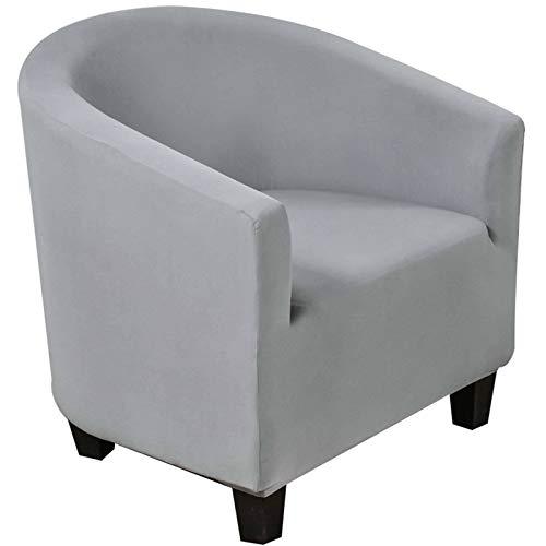 Sesselschoner, Sesselüberwurf Sesselhusse Sesselbezug Blumendruck Elastische Stretch Abwaschbar Sofahusse Husse für Clubsessel Weich Möbelschutz-BG-Clubstuhl