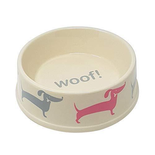 Grand Porcelaine Woof Nourriture pour les Chiens Eau Chien Animal de Compagnie Gamelle 8 \