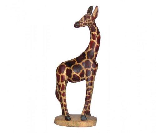 Unbekannt Holz-Giraffe, Deko-Giraffe, wahlweise in 20cm, 30cm, 45cm und 60cm, Grösse:ca. 30 cm