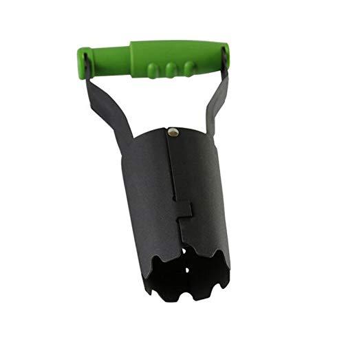 Fgolphd Manuelle Weeder Shovel Automatische Bodenfreigabeausgrabung Füllstofflochgarten Birne Pflanzungswerkzeug for Anbau von Tulpen Narzissen Pflanzen (Color : Green)