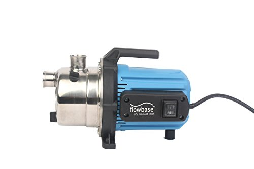 Seliger Pompe de jardin gpj 3100/35 en inox, 600 W, 3100 l/h Débit, 3,5 bar, noir/bleu