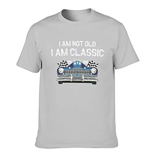 Camiseta de algodón para hombre con texto en inglés 'I Am Not Old I Am Classic'