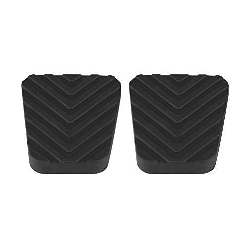 KIMISS - Almohadillas para pedal de embrague de freno de coche, 2 piezas de cubierta de pedal de freno de embrague de goma para 3282524000, Accent Elantra Excel Getz Scoupe Tiburon (negro)