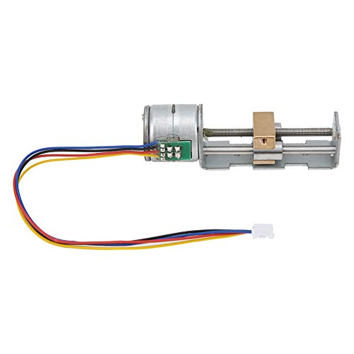 Mesa deslizante de motor paso a paso de 20 mm, deslizador tuerca tornillo lineal en miniatura, motor paso a paso de 2 fases y 4 cables, deslizador pequeño de bricolaje para máquinas herramientas