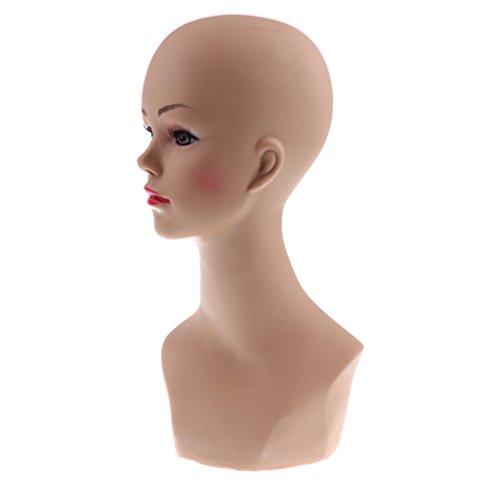 Modelo de Cabeza de Maniquí Mujer de PVC Duradero Sostenedor de Pantalla...