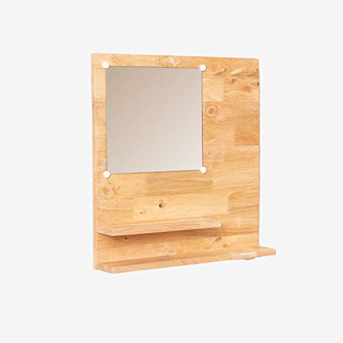 SKLUM Espejo de Pared con Estante Arlan Madera Natural - (Elige Color)