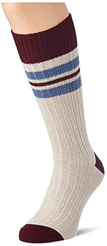 Hackett London Mens Signature Stripe Socks, 8HWOATMEAL, ML