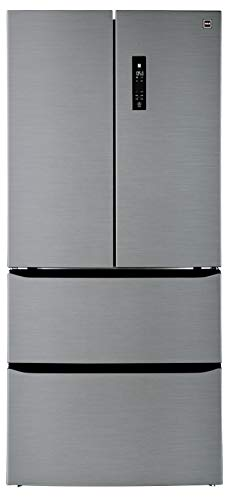 professional RCA RFR1504 refrigerator with two freezers, 15.3 cc Futa, stainless steel
