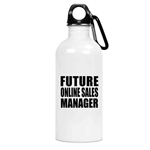 Designsify Future Online Sales Manager - Water Bottle Botella de Agua, Acero Inoxidable - Regalo para Cumpleaños, Aniversario, Día de Navidad o Día de Acción de Gracias
