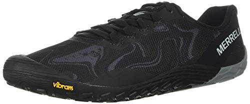 Merrell Vapor Glove 4 J066285 Barefoot Laufschuhe Trailschuhe Turnschuhe Herren (Black/Lime, Numeric_42)