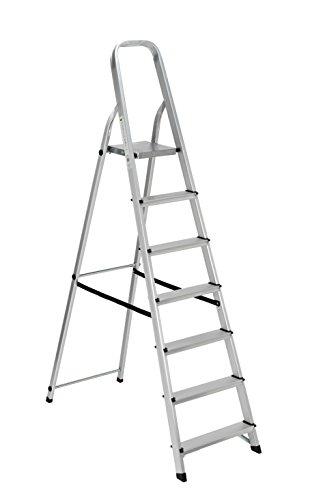 Scala alluminio Everest 7gradini Per uso domestico e bricolage Portata max 150 kg.