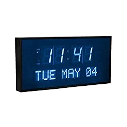 Active Living Oversized Digital Blue LED Dynamic Wall Clock
