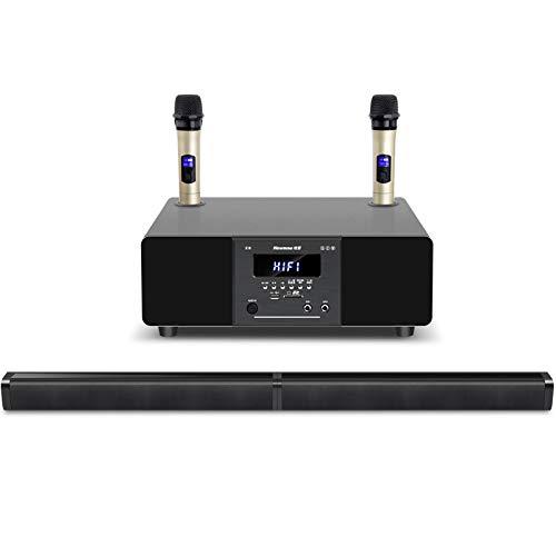 YLFF familie KTV Audio Set Bluetooth Speaker Draadloze Microfoon Microfoon TV Geluid Zingende Apparatuur Woonkamer Karaoke