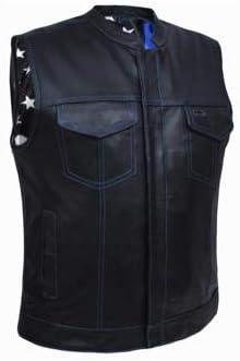 Men's Blue Flag Vest ,Blue ,3XL