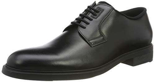 BOSS Firstclass_derb_pl, Zapatos de Cordones Derby Hombre, Negro (Black 001), 43.5 EU
