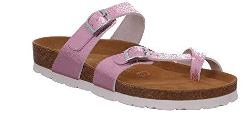 Rohde Alba 5595 44 Damen Hausschuhe Sandale Pantolette Zehenring Rose, Größe:D 40