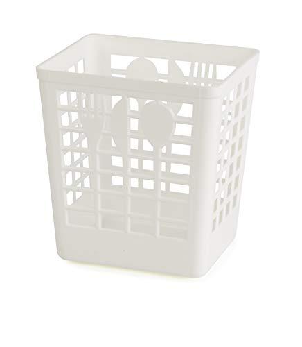 Kimmel Abtropfbehälter/Besteckkorb, Kunststoff, Weiß