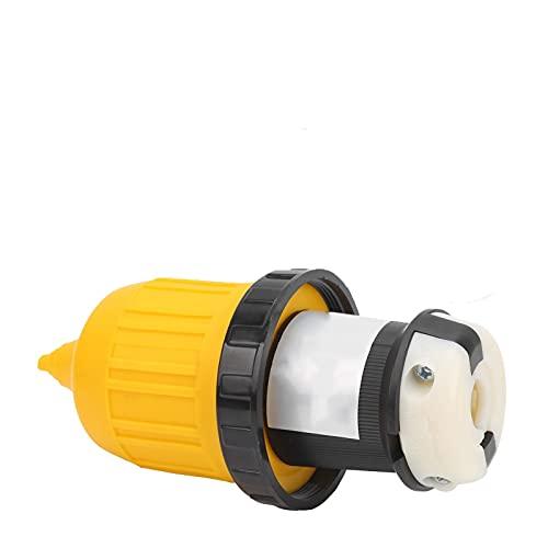 Development RV. RV Reemplazo de RV. Conector de Cable Conector de Bloqueo con Cubierta de Enchufe 3 0AMP 125 V Adecuado para Karawan Trailer RV Modelo RV