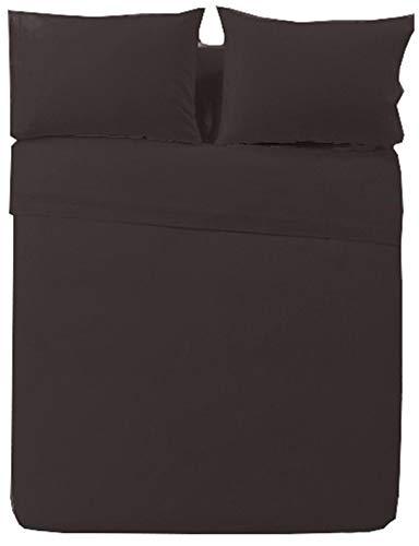 Towel Home - Funda Nórdica Chocolate, REGALAMOS Las Fundas de Almohada!! Polycotton Confort (Cama 150cm)