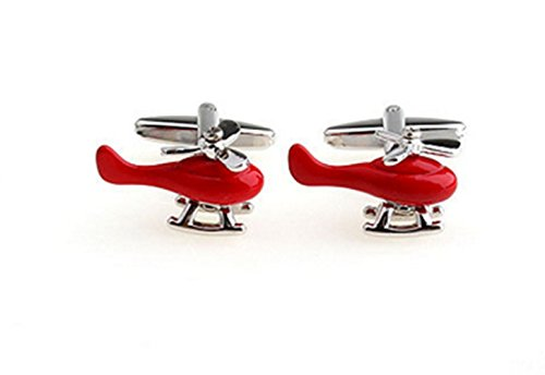 Gudeke Red Plane Aircraft Aeroplane Pilot Rot Flugzeug Manschettenknöpfe Cufflinks