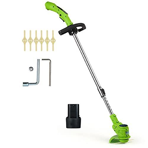 DEALRITE 12VEdger & Lawn Cortacésped inalámbrico cortador de malezas kit de poda herramientas de jardín con hoja de repuesto