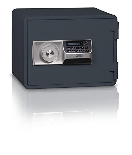 BURG-WÄCHTER, Feuerschutztresor mit elektronischem Zahlenschloss, feuerfester Dokumentensafe, FP 44 E, 14,3 l, 25,0 kg, Stahl, Anthrazit