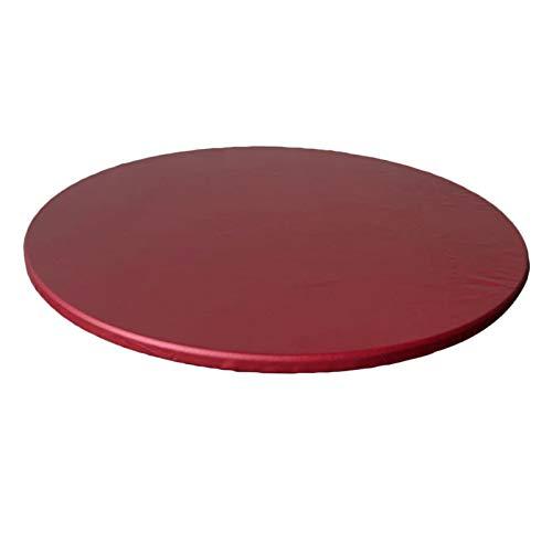 FLAMEER Tovaglia Impermeabile Antiscivolo tovaglia tovaglia per Diametro 60cm (23.6 Pollici) Tavoli Rotondi - Vino Rosso