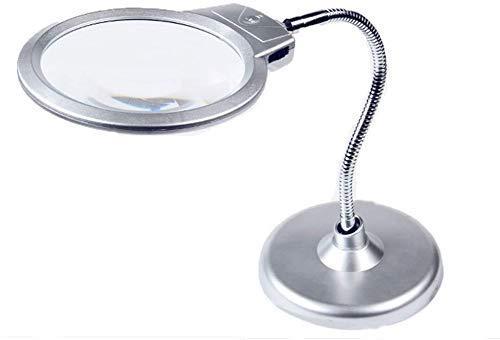 HXHBD Boutique lupa de escritorio portátil lupa 20 con la lámpara LED ángulo ajustable lupa lectura viejo lupa de mesa/código de producto: WW-1134