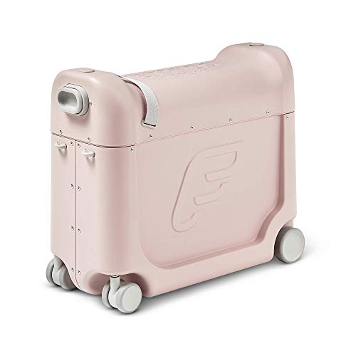 JetKids by Stokke BedBox, Pink Lemonade - Kid's Ride-On Suitcase & In-Flight Bed - Help Your Child Relax & Sleep on the Plane - Approved by Many Airlines - Best for Ages 3-7
