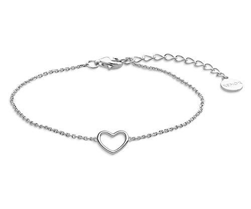 Xenox Silber Damen-Armband Heart Beat XS1757