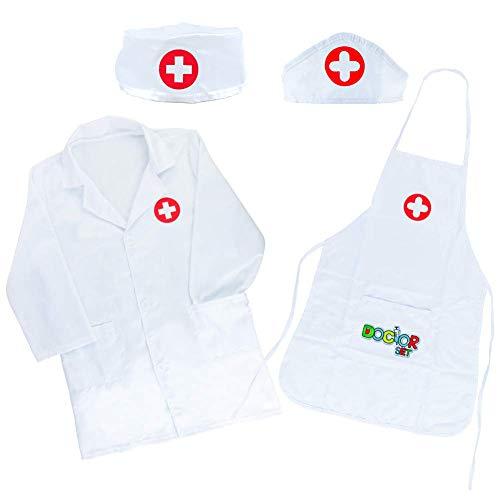 Arztkittel Kinder Arzt Kostüm Kinder Doktor Rollenspiel Spielzeug Geschenke Kinder Kinderarztkoffer Ab 3 4 5 Jahre Jungen Mädchen