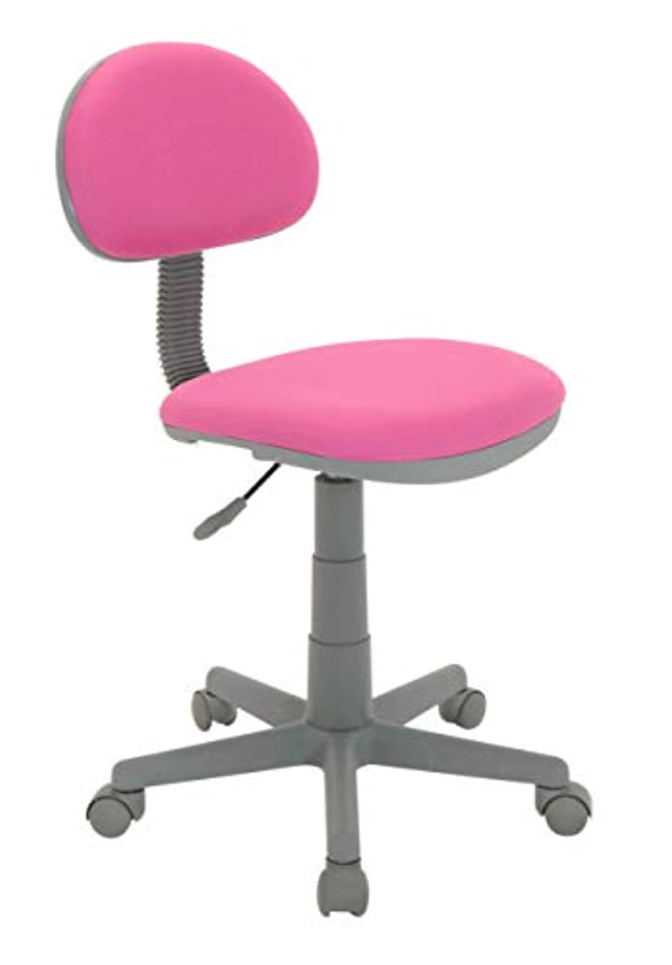 Calico Designs Deluxe Task Chair in Pink with Gray Base 18510
