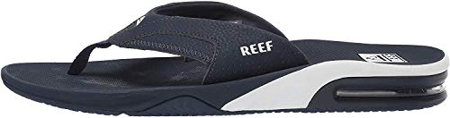 Reef Men's Fanning Flip Flop, navy/white, 040 M US