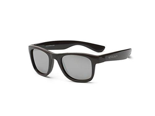 Koolsun Baby Lunettes de soleil enfants Wave Fashion 1 + | Black Onyx Miroir – Protection UV 100% – Optical Clas 1, Cat. 3 | Flexible & incassable