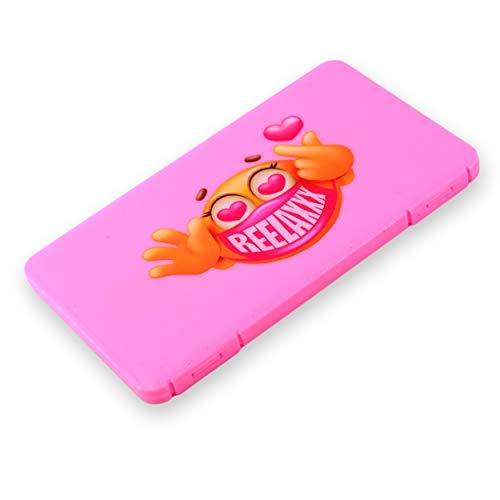 REELAXXX - Maskenbox Kinder - Schmuck Perlen - Aufbewahrungsbox Masken - Karten und Zubehör - Box für Maske - Aufbewahrung - Maskentaschen - Etui Mask Case - Tasche (Rosa)